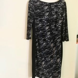 Black Label by Evan Picone Graphic Dress-Size 10